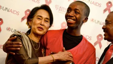 Shared cause: Aung San Suu Kyi and Mohammed Barry.