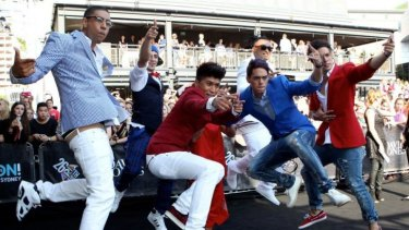 Holds the most successful Australian single ... Justice Crew.