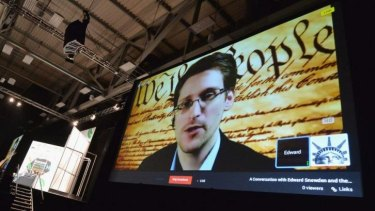 """""""The Constitution was violated on a massive scale"""": Edward Snowden."""
