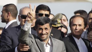 The Iranian President, Mahmoud Ahmadinejad.