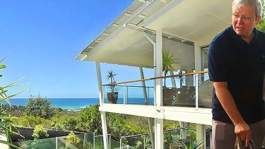 The five-bedroom, well-appointed house is very open, with expansive beach and ocean views from all the main rooms.