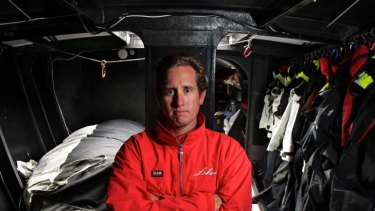 Brave ... after his 6.5-metre yacht was wrecked in a collision at sea two months ago, Scott Cavanough is to join the crew of the 30-metre Lahana.