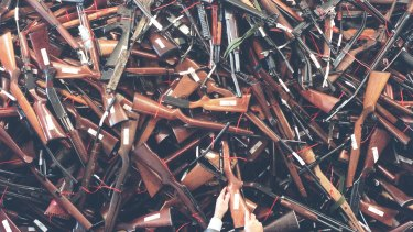 Australia's gun buyback resulted in about 1 million newly banned weapons being destroyed en masse.
