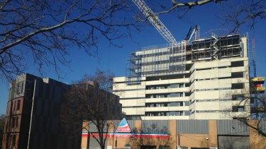 The development site on Shiel Street, North Melbourne.