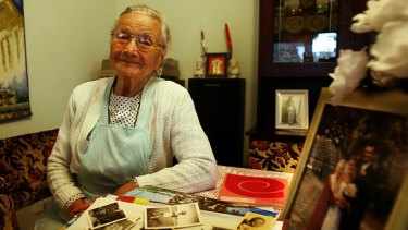 """""""We were free'': Polish migrant Krystyna Gruba, 84,  at her Footscray home of 54 years, which she shared with her beloved Wladyslaw and son Zenon (inset)."""