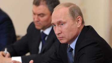 Russian President Vladimir Putin  ... Americans must renounce the threat of force in Syria.