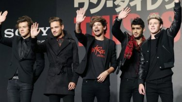 One Direction: (from left) Harry Styles, Liam Payne, Louis Tomlinson, Zayn Malik and Niall Horan.