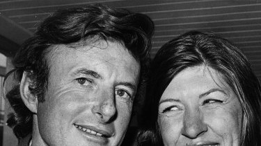 John Fairfax and then-girlfriend Sylvia Cook pictured in London in 1972. They survived the voyage but their romance ultimately wouldn't.