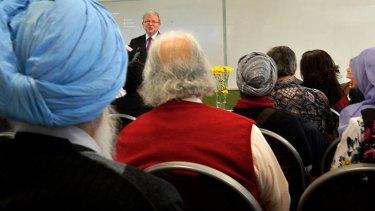 Blown away: Kevin Rudd in Broadmeadows.