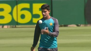 The Aussies are wary of a 16yo Pakistani debutant in the first Test in Brisbane.