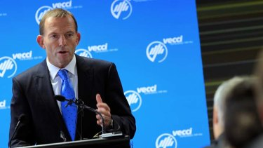 The coalition's plan ... Tony Abbott proposed the creation of an independent audit commission.