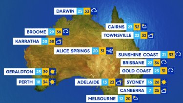 National weather forecast for Friday January 16