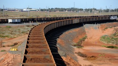 The iron ore slump has left its mark on Australia's trade balance.