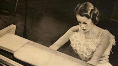 Melba of the piano... Eunice Gardiner, who made her London debut in 1937.