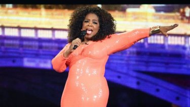 No singing ... Oprah Winfrey regaled the audience with two hours of self-help strategies and personal experiences during her An Evening With Oprah stage show at Melbourne's Rod Laver Arena.