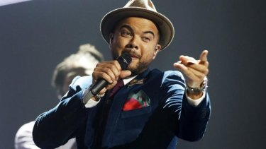 Guy Sebastian at the Eurovision Song Contest in Vienna.