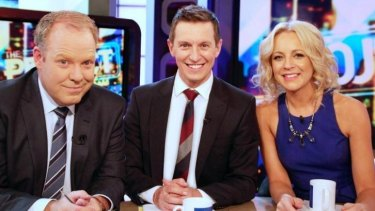 Too frothy: <i>The Project</i> on Ten with Peter Helliar, Rove McManus and Carrie Bickmore.