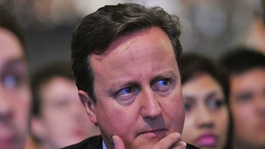 Under fire ... Britain's Prime Minister David Cameron.