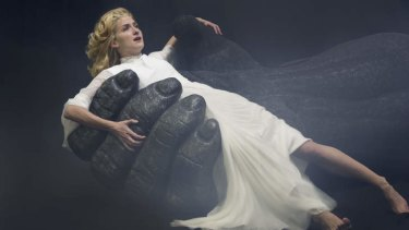 Hands-on approach: Esther Hannaford with her co-star in <i>King Kong</i>.