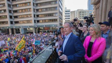 Bill Shorten speaking at the YES Rally for Marriage Equality in Sydney.