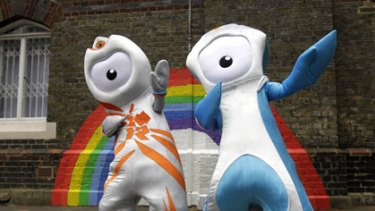 Eye on the prize ... London 2012 mascots Wenlock and Mandeville.