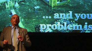 British climate change sceptic Lord Christopher Monckton brings his message to Australia.