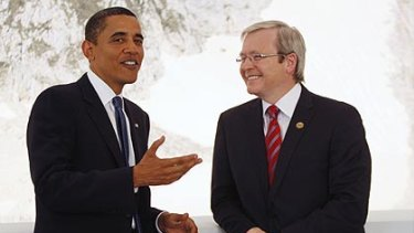 Good news ... Barack Obama singled out Australia's Carbon Capture and Storage Institute for praise.