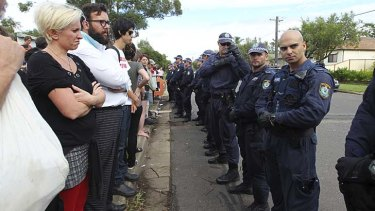 Villawood detention centre protest.