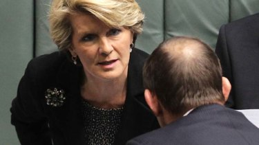 Julie Bishop: Accused the PM of creating a distraction.