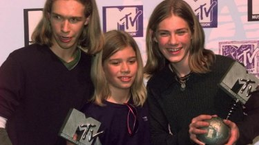 The kids are all right: Hanson at the 1997 MTV Music Awards during the height of their popularity.