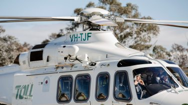 The new Agusta Westland 139 helicopter is 40 per cent faster than its predecessor.