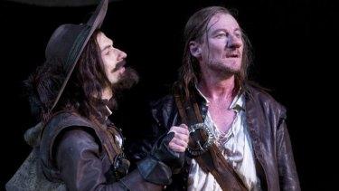 Straight to the heart: Yalin Ozucelik and Richard Roxburgh in the Sydney Theatre Company's Cyrano de Bergerac.