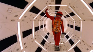 Keir Dullea in Stanley Kubrick's <i>2001: A Space Odyssey</I>.