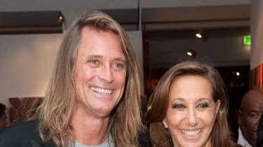 Russell with fashion icon Donna Karan.