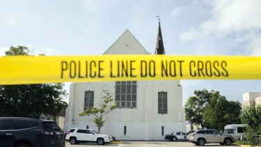 The AME Emanuel Church in Charleston after the shooting in 2015.