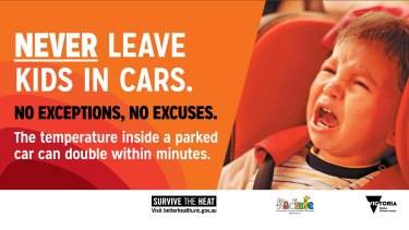 Victorian government hot car campaign