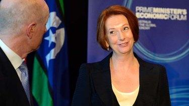 "Economic development ... Prime Minister Julia Gillard promises to make cuts to company tax a ""priority""."