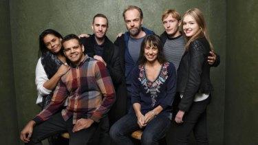 The rest of the cast of <i>Strangerland</i>: Lisa Flanagan, Meyne Wyatt, Joseph Fiennes, Hugo Weaving, Kim Farrant, Sean Keenan and Maddison Brown.