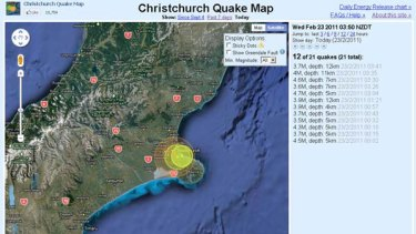 Christchurch Quake Map brings home disaster with a time lapse visualisation of each quake and tremor.