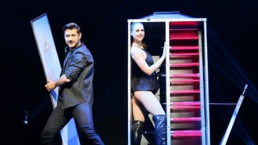 Australian magician Sam Power delivered a new spin on classic illusions.