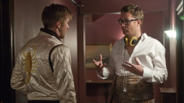 Ryan Gosling and Nicolas Winding Refn on set.