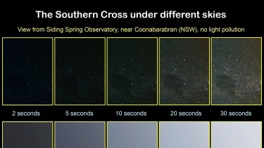 Comparing light in the night sky at AAO's Siding Spring Observatory with light in Leichhardt.