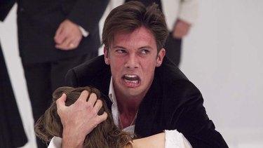 Harrowed soul: Toby Schmitz as Hamlet is charismatic and quicksilver.