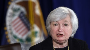 US Federal Reserve Chairman Janet Yellen.