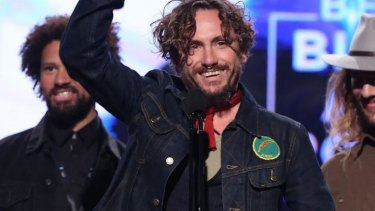 'It shouldn't be up to me' ... John Butler was the only one at the ARIAs to publicly thank the traditional land owners, the Eora people.