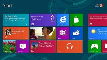 Windows 8 Start window.