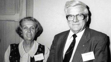 Influential ... John Ellard with his wife, Joan.