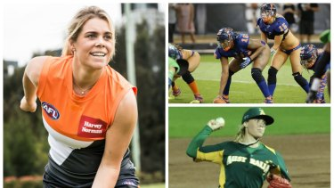 GWS Giants recruit Jacinda Barclay is a triple threat in the sporting world.