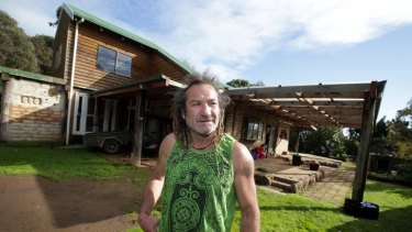 Legal mess: Robert Moloney at the  Niranda house he built which has been caught up in a series of legal battles.