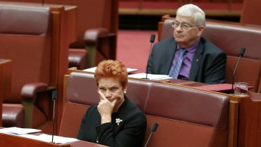 Pauline Hanson and two of her senators voted against Rod Culleton's motion.